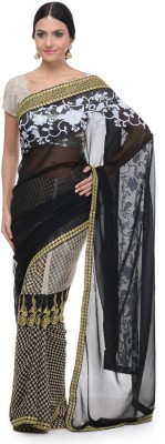 Aarohii Polka Print Bollywood Georgette Sari