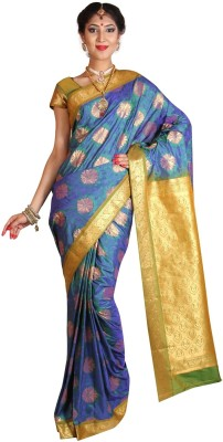6 Yard Silks Woven Shalu Art Silk Sari