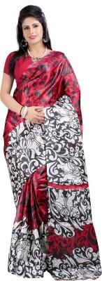 Hamsini Floral Print Bollywood Art Silk Sari