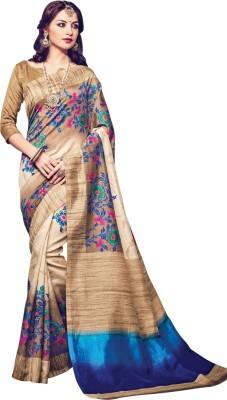 Shop Plaza Embriodered Daily Wear Silk Sari