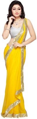 Kajal Prints Self Design Fashion Chiffon Sari