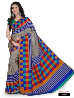 Sarovar Sarees Self Design, Geometric Print, Plain, Floral Print, Striped, Printed Mysore Art Silk Sari