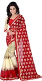 KIRAN Self Design Bollywood Jacquard Sar...