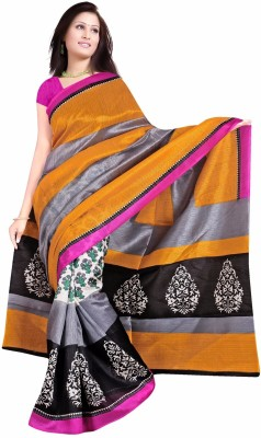 Indian Boutique Printed Daily Wear Cotton Sari