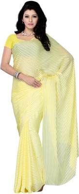 Diva Fashion-Surat Striped Daily Wear Handloom Georgette Sari