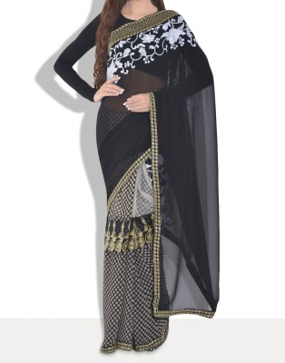 Parmar Design Embriodered Bollywood Net, Georgette Sari