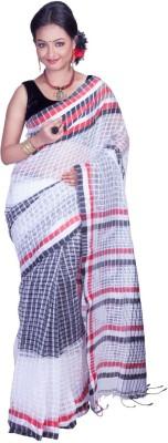 Jhumya Woven Tant Handloom Cambric Sari