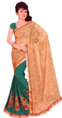 Vino Syn Fancy Embriodered Fashion Synthetic Chiffon Sari