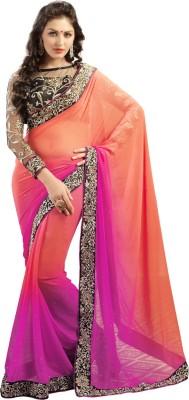 Admyrin Solid Fashion Georgette Sari