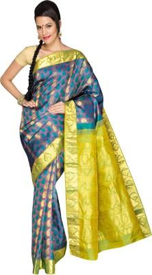 Anju Sarees Embellished Kanjivaram Handloom Pure Silk Sari