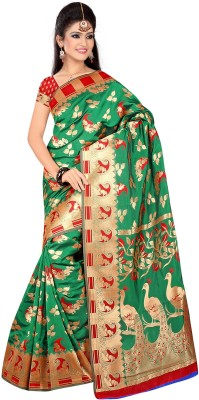 Vrundavan Ethics Self Design Fashion Jacquard Sari