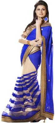 Aagamanfashion Embellished Fashion Synthetic Georgette Sari