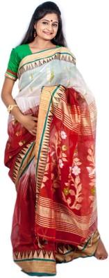 Tanis Embriodered Phulia Handloom Chiffon Sari