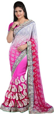 Fashion Designer Sarees Embriodered Fashion Brasso Sari