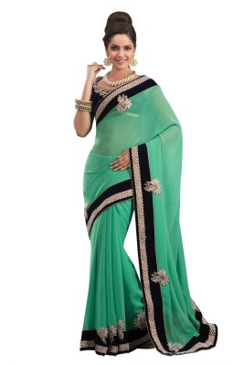 Chirag Sarees Self Design Fashion Georgette Sari
