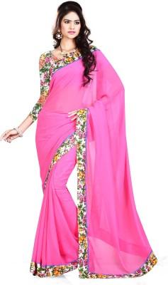 nimi fashion Embriodered, Plain, Solid, Self Design Fashion Georgette Sari