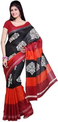 AFabrics Printed Bhagalpuri Handloom Khadi Sari