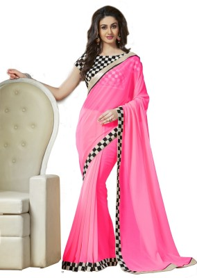 Krishna Fab Checkered Bollywood Handloom Viscose Sari
