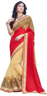 DesiButik Embriodered Fashion Silk, Net Sari