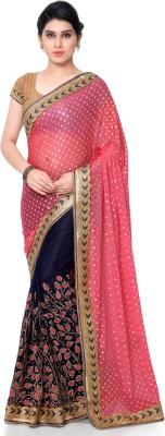 Patiala House Printed Fashion Lycra, Georgette Sari