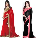 Tulsi Nx Solid Bollywood Chiffon Sari