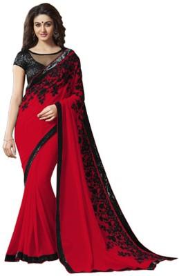 Mutiar Embriodered Fashion Georgette Sari