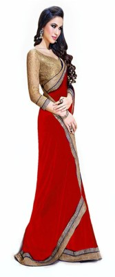 Kanishk Textile Embriodered Fashion Chiffon Sari