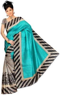Mysticbeauty Printed Bollywood Cotton Sari