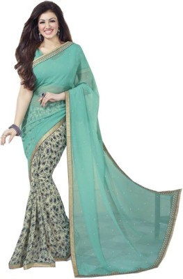 Kalaniketanfashion Embriodered Bollywood Georgette Sari