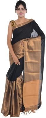 SHOBHA SAREES Self Design Fashion Cotton Linen Blend Sari