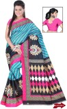svb sarees Printed Daily Wear Cotton Lin...