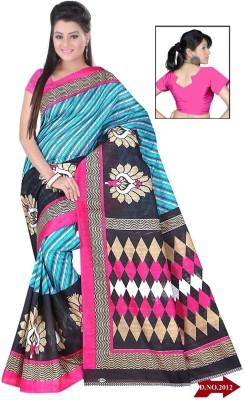 svb sarees Printed Daily Wear Cotton Linen Blend Sari