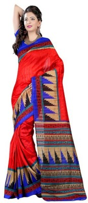 Henna Trendz Printed Fashion Poly Silk Sari