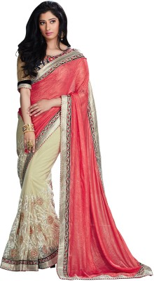 Varnilifestyle Embriodered Fashion Net Sari