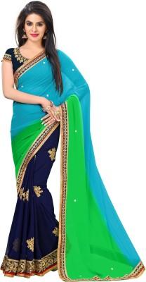 Jija Embriodered Fashion Pure Georgette Sari