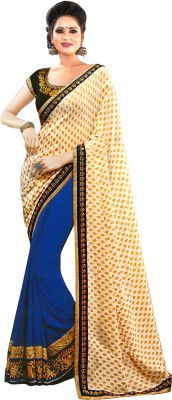 Womanethnicwear Embriodered Fashion Jacquard, Georgette Sari