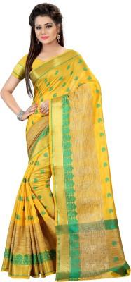 Fashionesta Self Design Fashion Silk Saree(Yellow) at flipkart