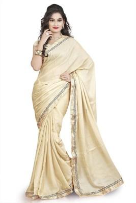 Aaditri Solid Fashion Crepe Sari