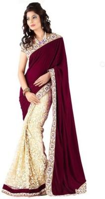 Dviti Sarees Embriodered Bollywood Velvet Sari