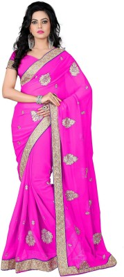 RajLaxmi Embellished, Embriodered Fashion Georgette Sari