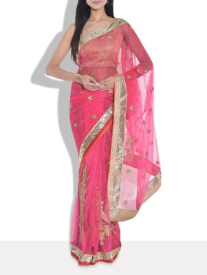 Manglam Sarees Embriodered Bollywood Net Sari