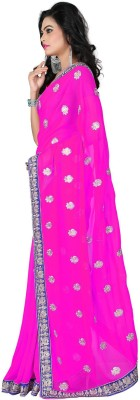 Vishakha Fashions Embriodered Fashion Georgette Sari
