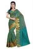 Vastrakala Checkered Banarasi Cotton, Si...
