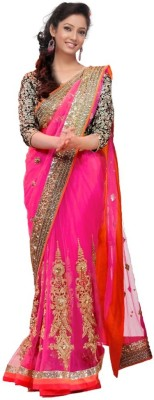 Newonfashion Self Design Fashion Net Sari
