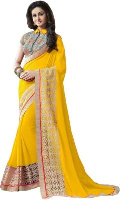 Vonage Self Design Fashion Pure Georgette Sari