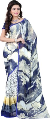 Fancy Sarees Printed Daily Wear Georgette Sari