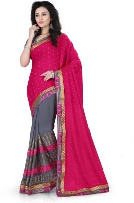 SareeShop Embriodered, Self Design Fashion Georgette Sari