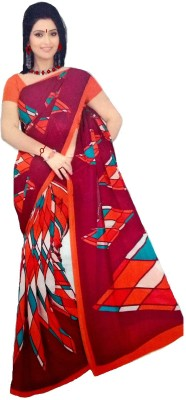 Coloursexports Printed Chanderi Pure Georgette Sari