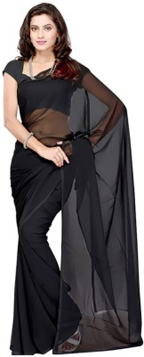 Chirmangal Plain Fashion Georgette Sari