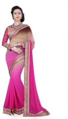 RoopMantra Embriodered Fashion Georgette Sari